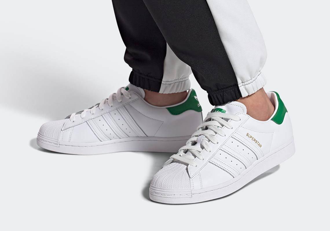 green superstars adidas