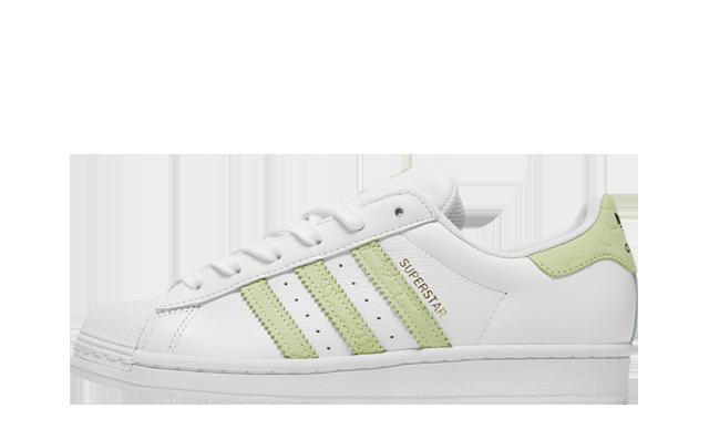 adidas Superstar White Green Gold