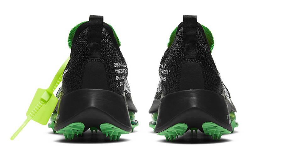 Off-White x Nike Air Zoom Tempo Next% Black Scream Green Back