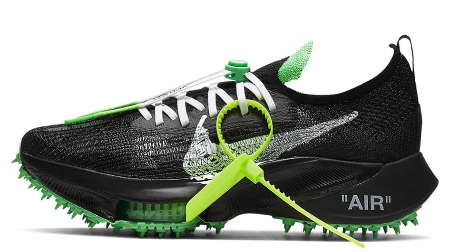 Off-White x Nike Air Zoom Tempo Next% Black Scream Green