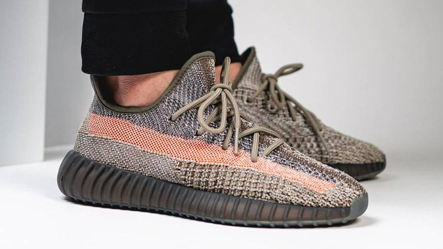 Yeezy Boost 350 V2 Ash Stone On Foot Side