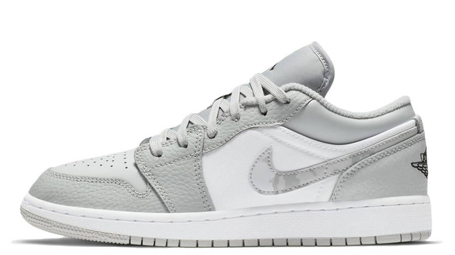 Jordan 1 Low Gs White Grey Camo Swoosh Where To Buy Dd3234 100 The Sole Womens
