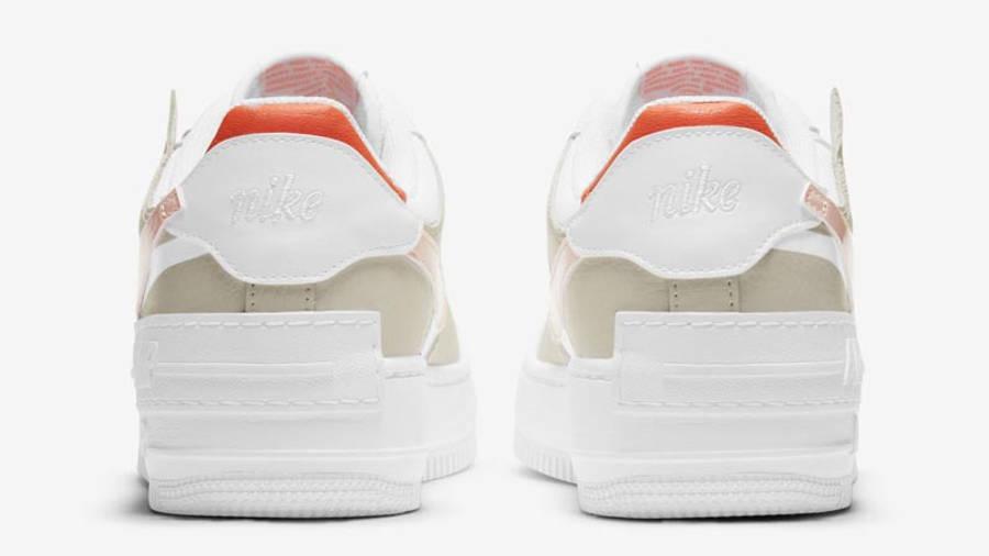 Nike Air Force 1 Shadow White Crimson Tint Back