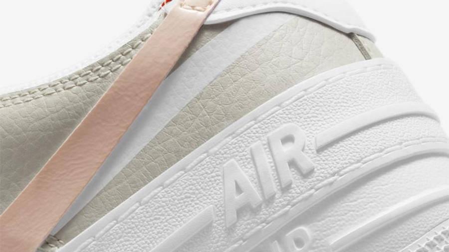 Nike Air Force 1 Shadow White Crimson Tint Closeup