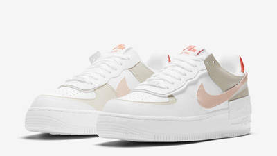 Nike Air Force 1 Shadow White Crimson Tint Front