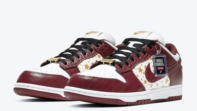 Supreme x Nike SB Dunk Low Stars Barkroot Brown Front