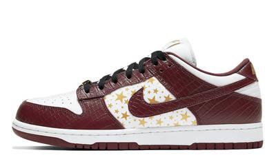 Supreme x Nike SB Dunk Low Stars Barkroot Brown
