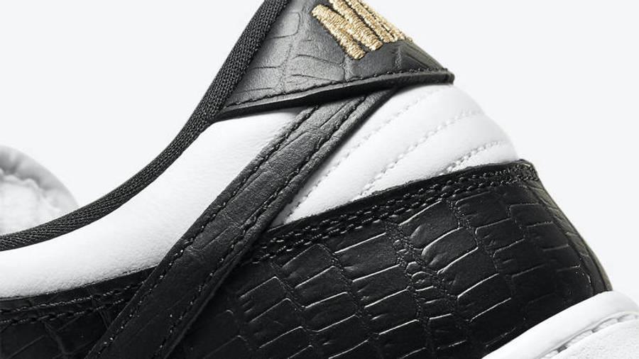 Supreme x Nike SB Dunk Low Stars Black Closeup