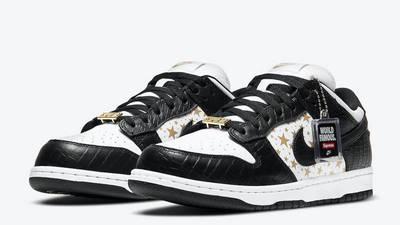 Supreme x Nike SB Dunk Low Stars Black Front