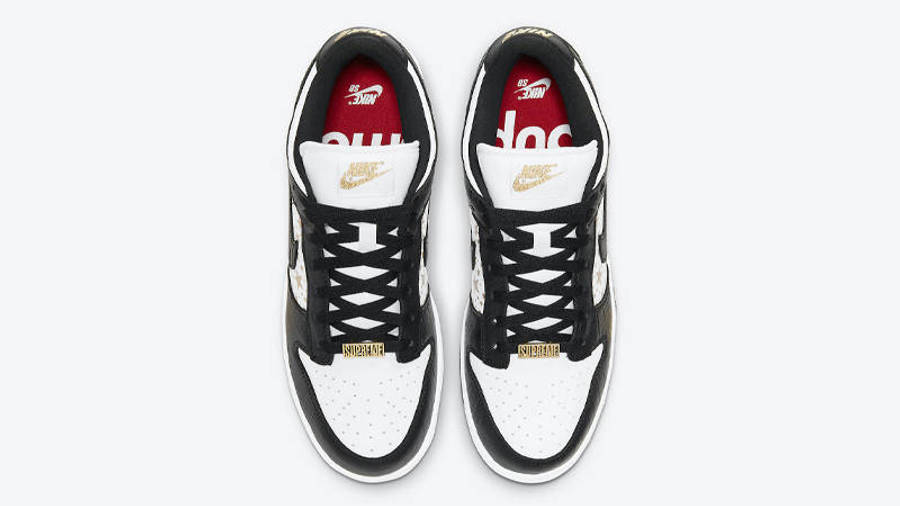 Supreme x Nike SB Dunk Low Stars Black Middle
