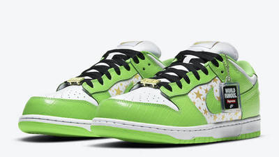 Supreme x Nike SB Dunk Low Stars Mean Green Front