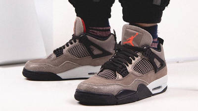 Jordan 4 Taupe Haze On Foot