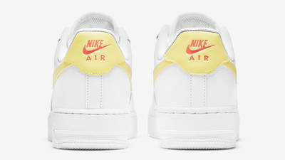 Nike Air Force 1 07 White Light Citron Back