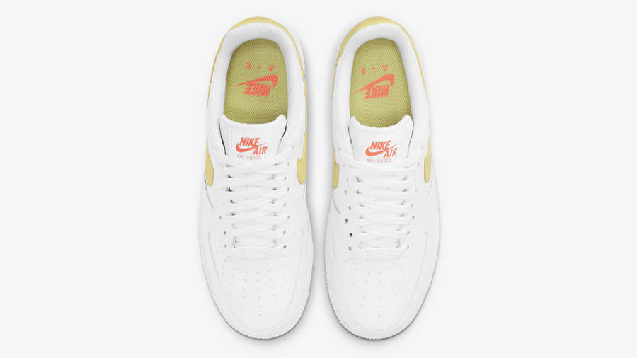 Nike Air Force 1 07 White Light Citron Middle