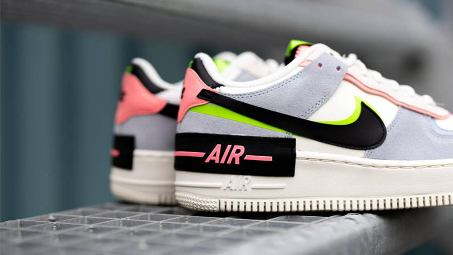 Nike Air Force 1 Shadow Sunset Pulse Blue Lifestyle Closeup