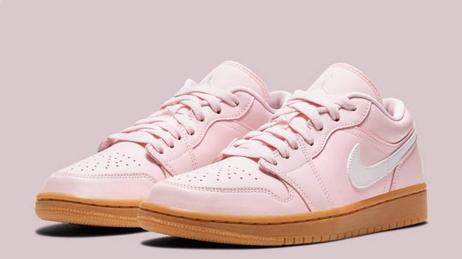 Jordan 1 Low Arctic Pink Gum Light Brown Front