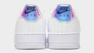 Nike Air Force 1 07 LV8 GS Pixelated Swoosh White Back
