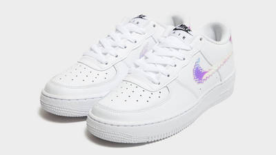 Nike Air Force 1 07 LV8 GS Pixelated Swoosh White Front