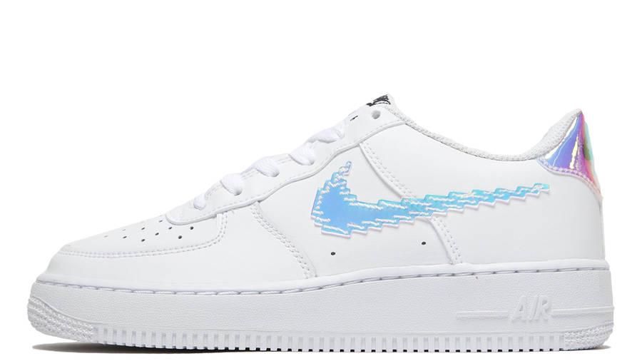 Nike Air Force 1 07 LV8 GS Pixelated Swoosh White