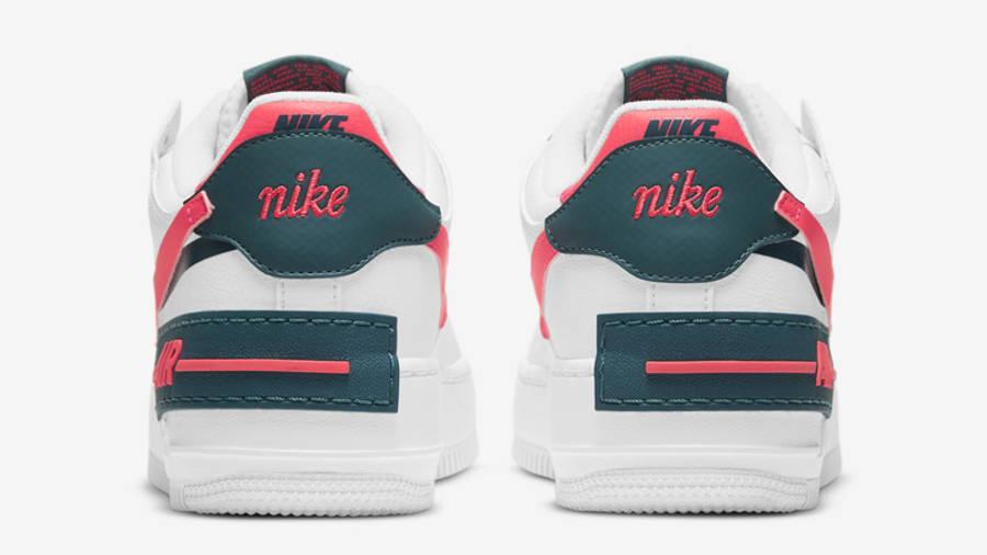 Nike nike shoes skin fit jeans girls White Dark Teal Solar Red Back