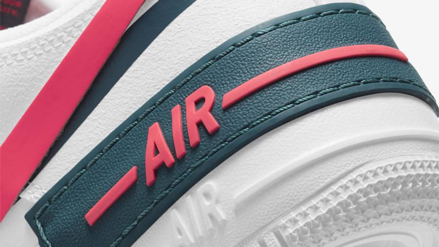 Nike nike shoes skin fit jeans girls White Dark Teal Solar Red Closeup