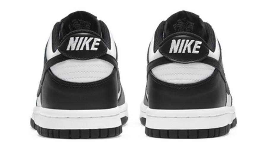 Nike Dunk Low White Black GS CW1590-100 back