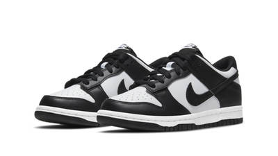 Nike Dunk Low White Black GS CW1590-100 front