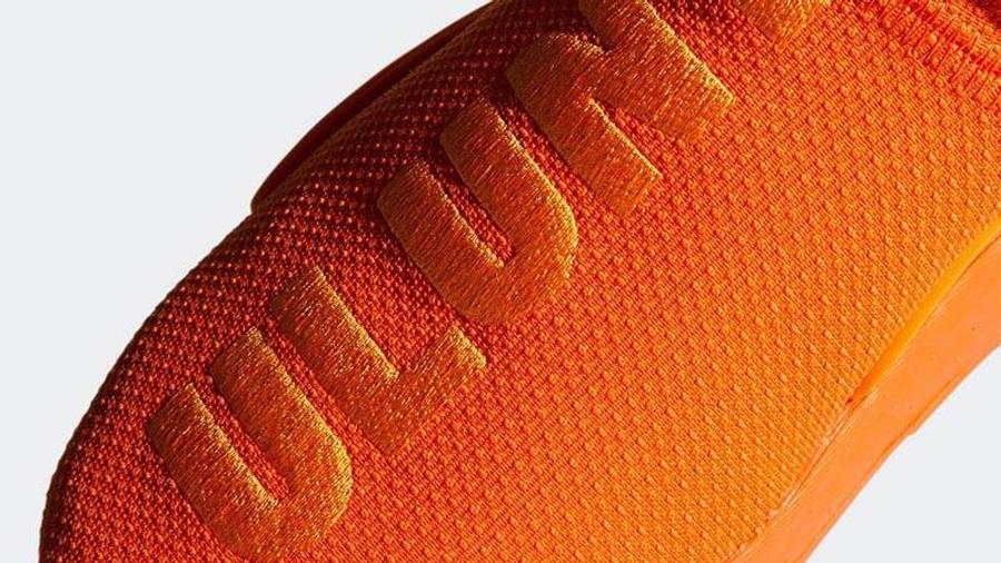 Pharrell x adidas NMD Hu Bright Orange Closeup