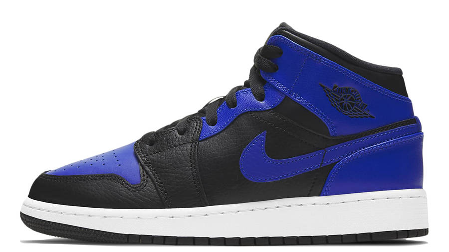 Jordan 1 Mid GS Hyper Royal   Where To Buy   554725-077   The Sole ...