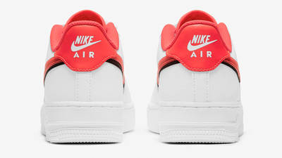 Nike Air Force 1 LV8 GS Double Swoosh White Bright Crimson Back