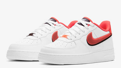 Nike Air Force 1 LV8 GS Double Swoosh White Bright Crimson Front
