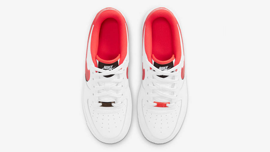 Nike Air Force 1 LV8 GS Double Swoosh White Bright Crimson Middle