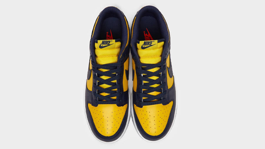 Nike Dunk Low Michigan First Look Middle