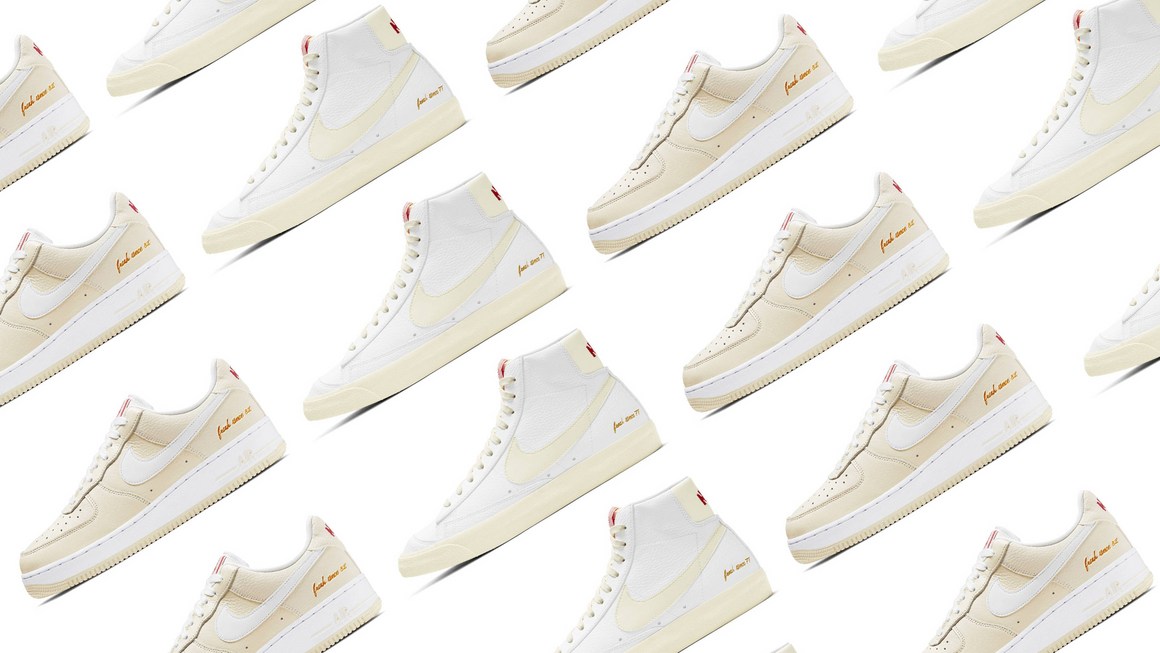 Nike Blazer Mid and Air Force 1 Low Popcorn