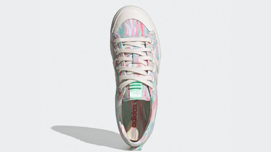 adidas Nizza Platform Chalk White Frozen Green Middle