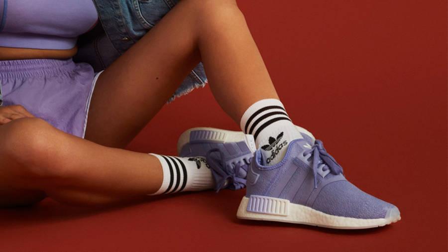 adidas NMD R1 Light Purple On Foot