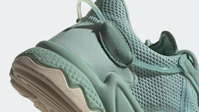 adidas Ozweego Hazy Green Closeup