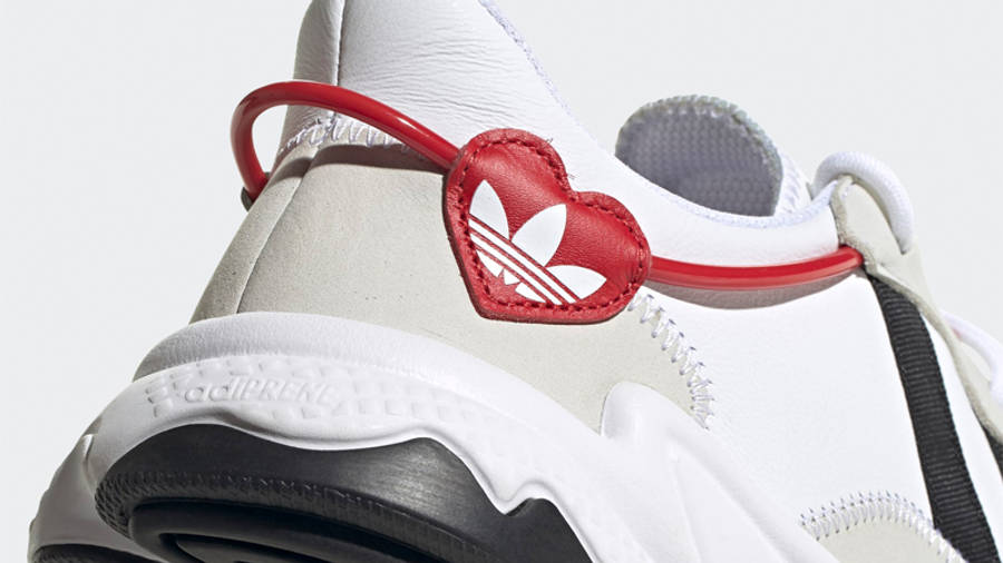 adidas Ozweego Hearts Pack Cloud White Scarlet Closeup