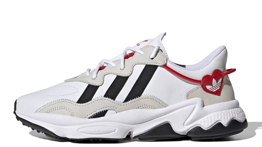 adidas Ozweego Hearts Pack Cloud White Scarlet