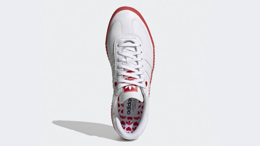 adidas Samba Rose Heart Print White Scarlet Middle