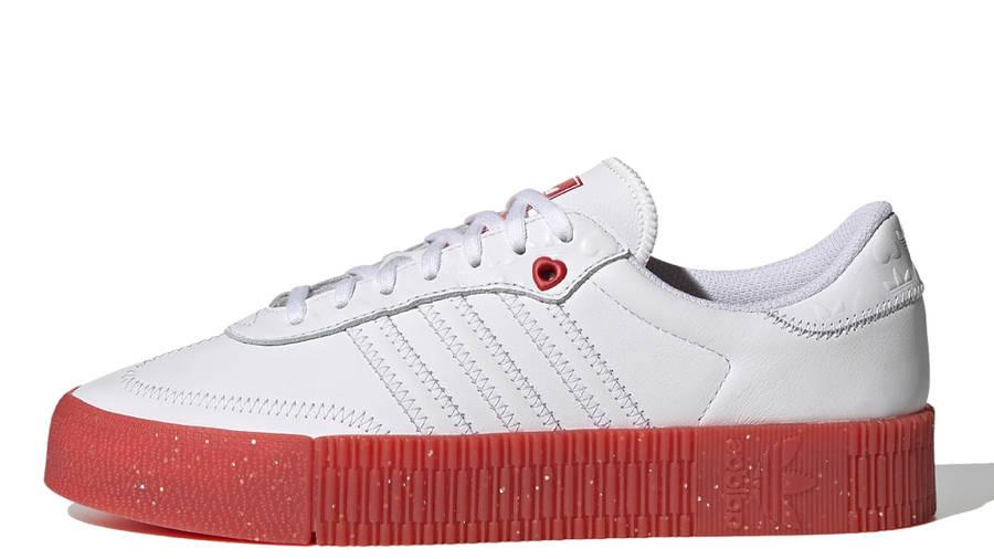 adidas Samba Rose Heart Print White Scarlet