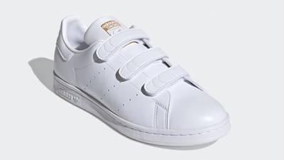 adidas Stan Smith Cloud White Gold Metallic Front