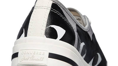 Comme des Garcons Play x Converse Jack Purcell Low Drizzle Black Back Closeup