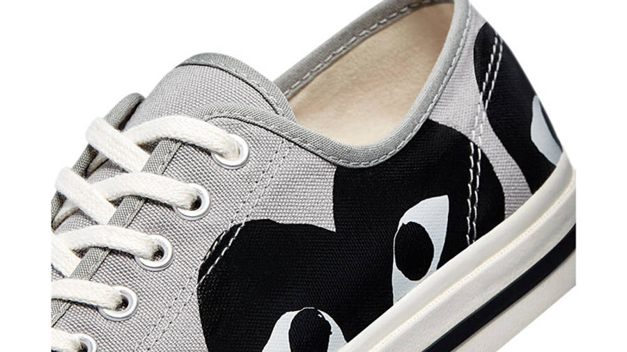 Comme des Garcons Play x Converse Jack Purcell Low Drizzle Black Closeup