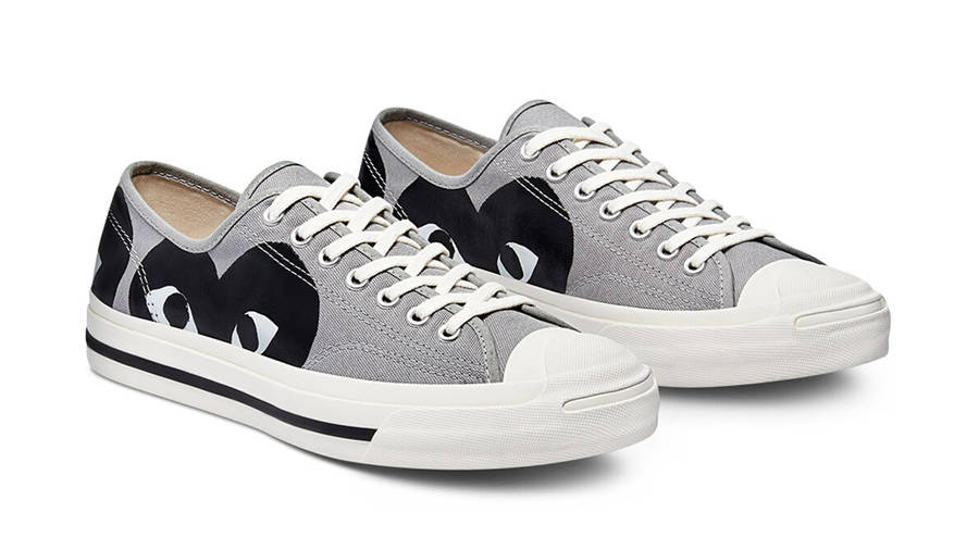 Comme des Garcons Play x Converse Jack Purcell Low Drizzle Black Front