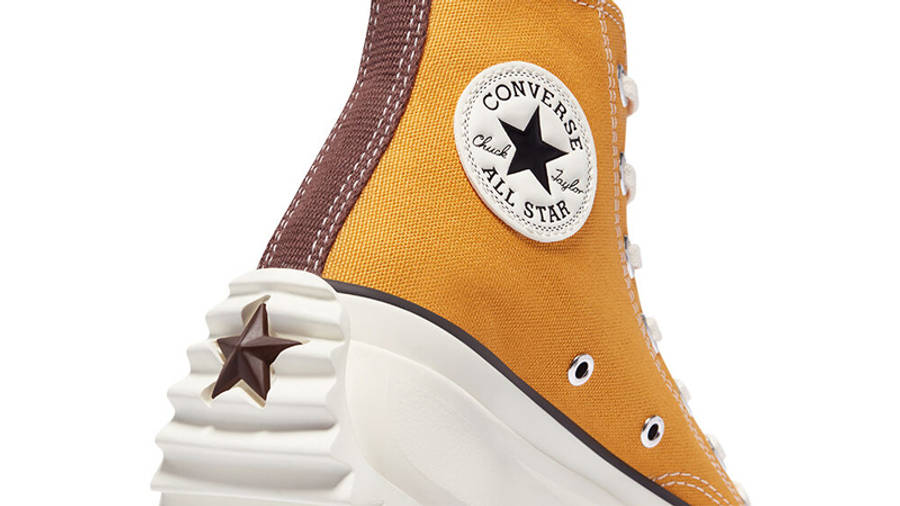 Converse Run Star Hike Tri-Panel Hi Sunflower Gold Parchment Closeup