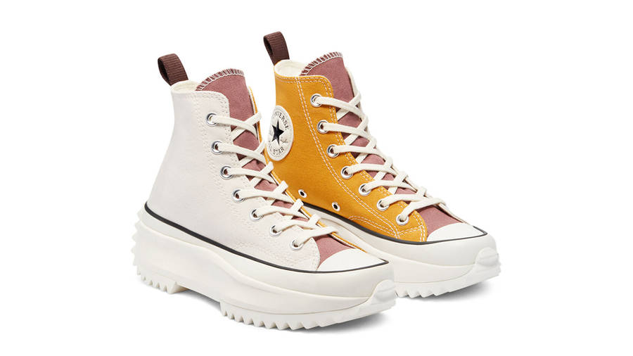 Converse Run Star Hike Tri-Panel Hi Sunflower Gold Parchment Front