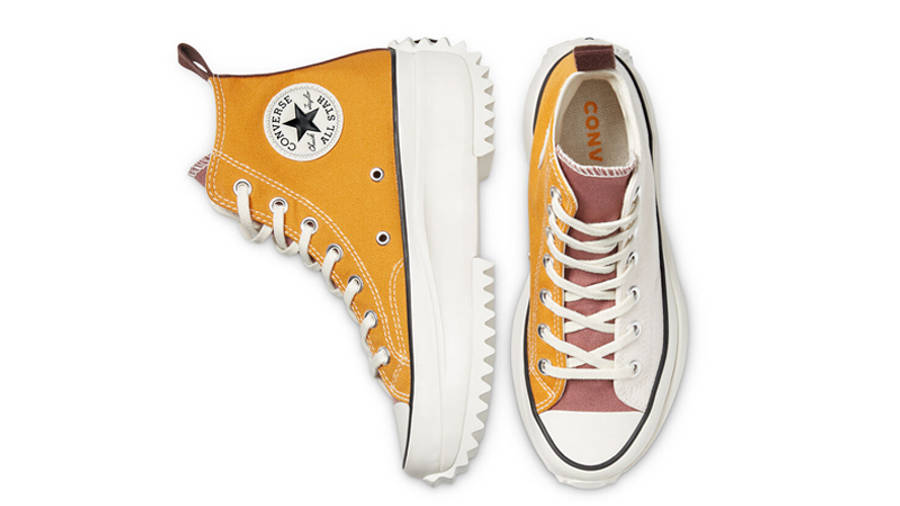 Converse Run Star Hike Tri-Panel Hi Sunflower Gold Parchment Middle