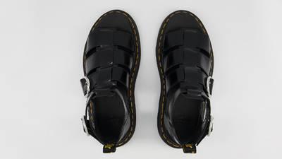 Dr Martens Mackaye Leather Strap Sandals Black Middle