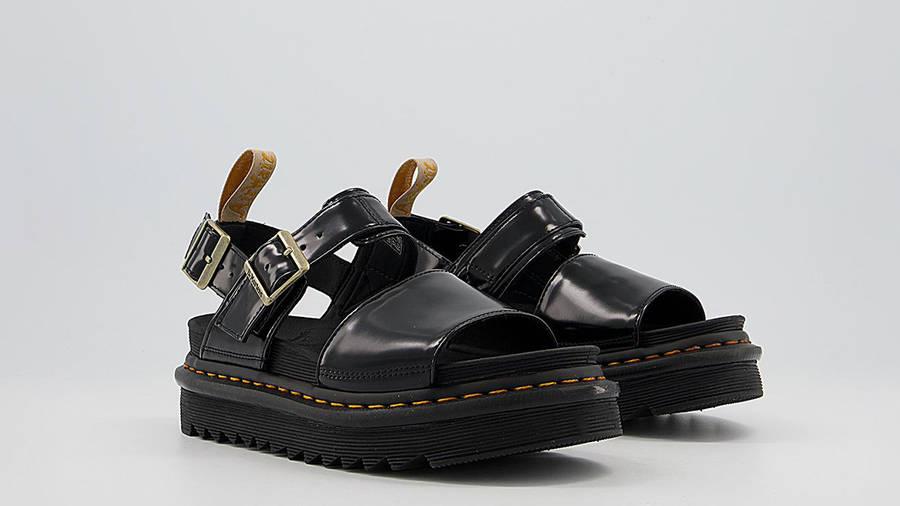 Dr Martens Vegan Voss Sandals Black Front